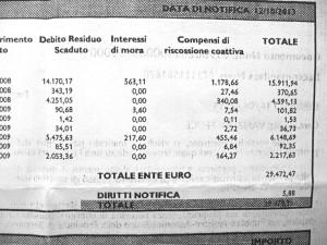 Per un'Irpef contestata di circa 19mila euro, comprensiva di sanzioni. Di fatto, tra more e interessi Vanzetti dovrebbe pagarne 29mila e 878. Oltre 10mila euro in più.