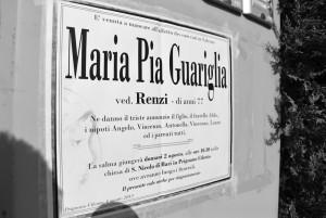 Maria Pia Guariglia, 77 anni, è stata ammazzata a bastonate dal figlio che, dopo averle strappato brandelli di interiora per mangiarle, ha cercato ricucirle un piede che le aveva staccato.