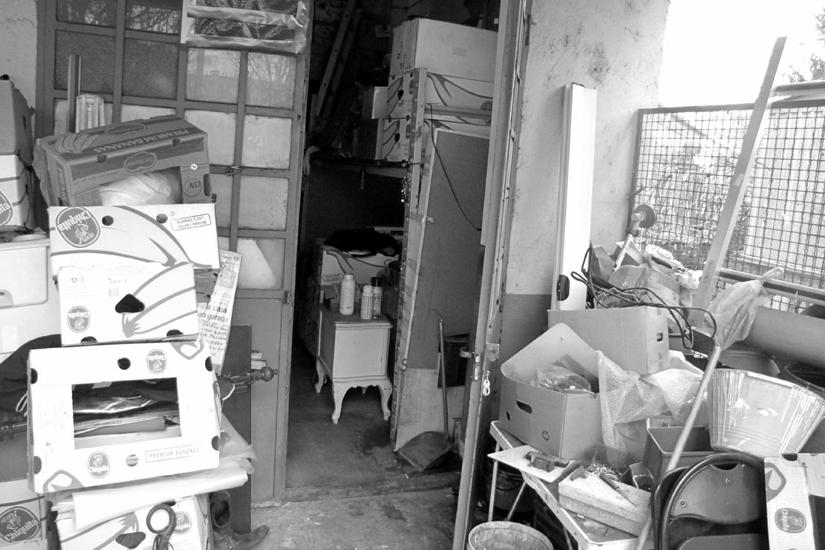 Il garage-casa di Antonino Calabrese