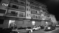 Via Lauro rossi 75 dove al secondo piano Luigi Musso ex minatore di 87 anni ha cercato di suicidarsi con il gas dopo aver strangolato la moglie Gigina Cavallari di 86 anni malata era immobile nel letto