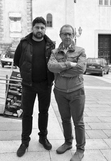 Enrico Galatro e Giacomo Scannelli, rispettivamente vicesindaco e primo cittadino di questo piccolo comune di origini medioevali abitato da poco meno di 1.500 persone